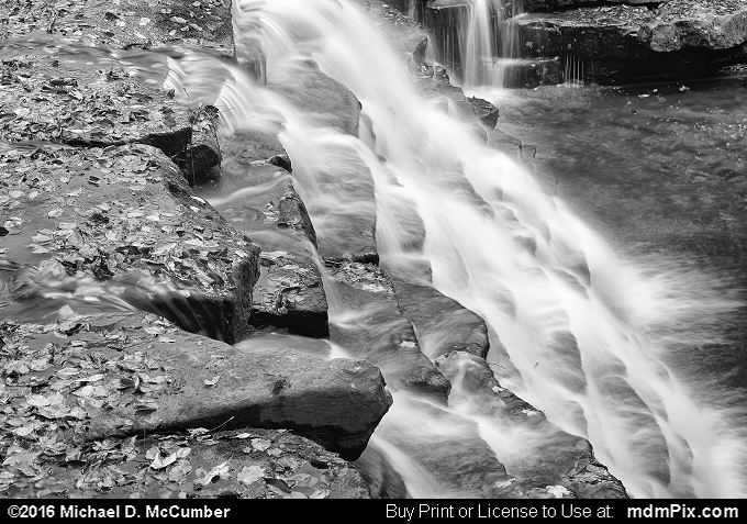 Jones Mill Run Dam (Jones Mill Run Dam Black and White Picture 113 - October 19, 2016 from Laurel Hill State Park, Pennsylvania)