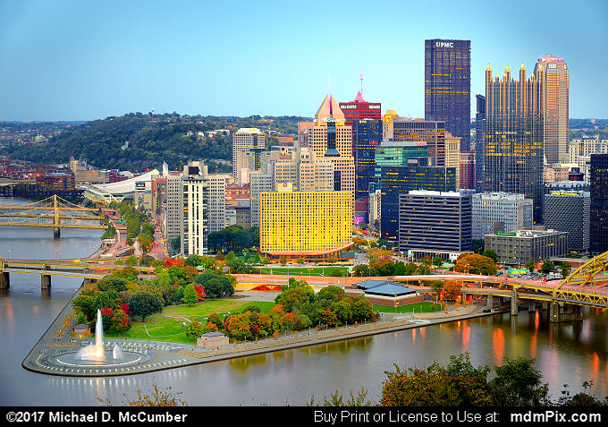 Pittsburgh Skyline (Pittsburgh Skyline Picture 010 - October 23, 2016 from Pittsburgh, Pennsylvania)