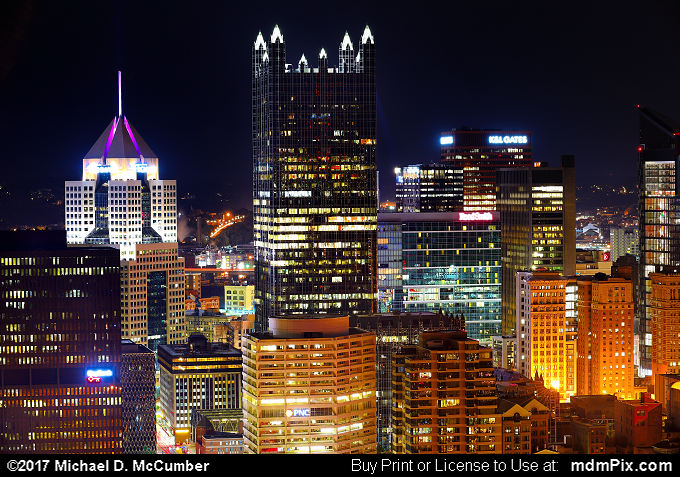 Pittsburgh Skyline (Pittsburgh Skyline Picture 015 - October 23, 2016 from Pittsburgh, Pennsylvania)