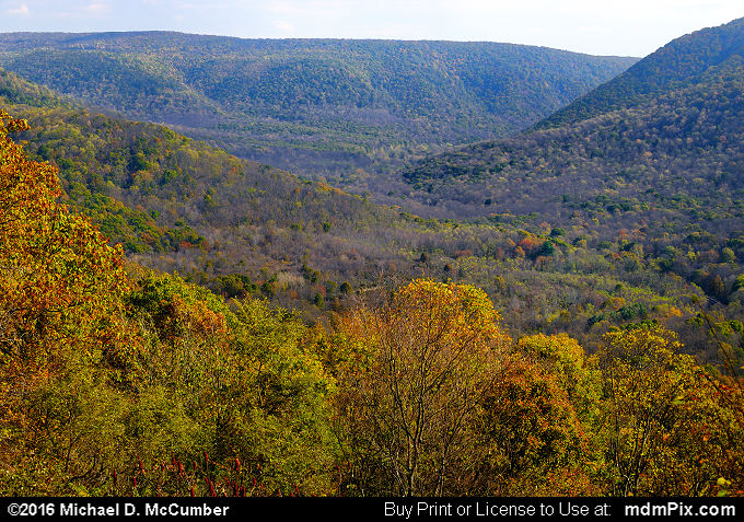Baughman Rock Overlook (Baughman Rock Overlook Picture 004 - October 29, 2016 from Ohiopyle State Park, Pennsylvania)