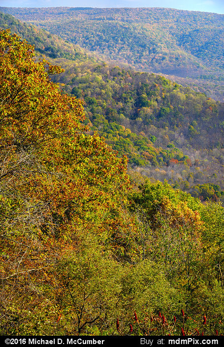 Baughman Rock Overlook (Baughman Rock Overlook Picture 007 - October 29, 2016 from Ohiopyle State Park, Pennsylvania)