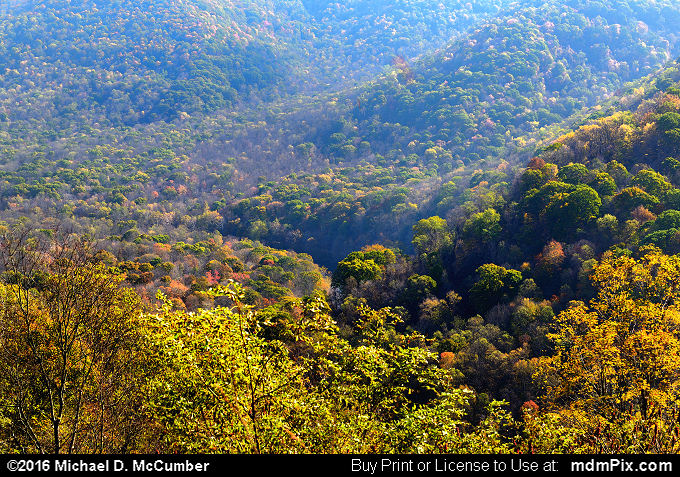 Baughman Rock Overlook (Baughman Rock Overlook Picture 008 - October 29, 2016 from Ohiopyle State Park, Pennsylvania)