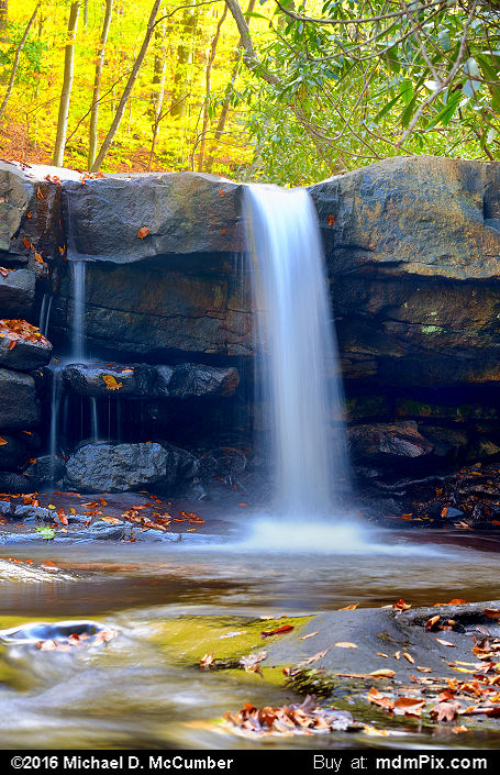 Cascading Waterfall (Cascading Waterfall Picture 026 - October 29, 2016 from Ohiopyle State Park, Pennsylvania)