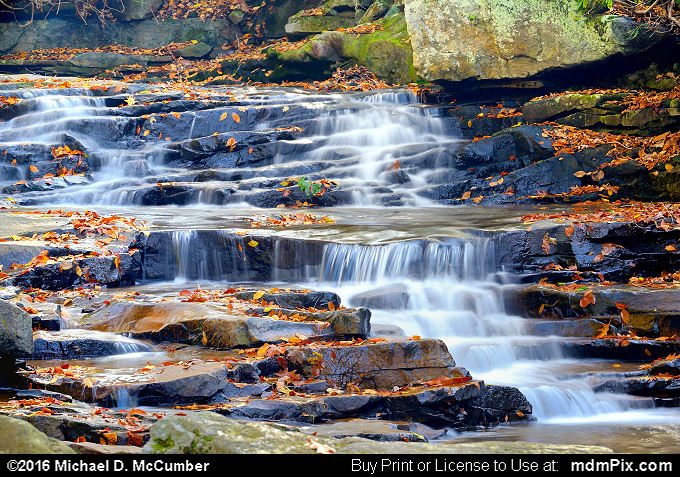Cascading Waterfall (Cascading Waterfall Picture 030 - October 29, 2016 from Ohiopyle State Park, Pennsylvania)