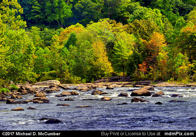 Youghiogheny River (Youghiogheny River Picture 032 - September 10, 2017 from Ohiopyle State Park, Pennsylvania)