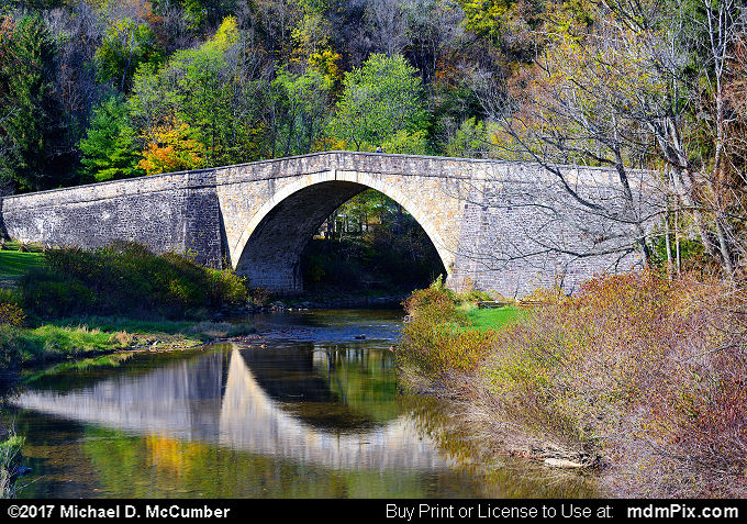 Casselman Bridge (Casselman Bridge Picture 042 - October 14, 2017 from Casselman River Bridge State Park, Maryland)