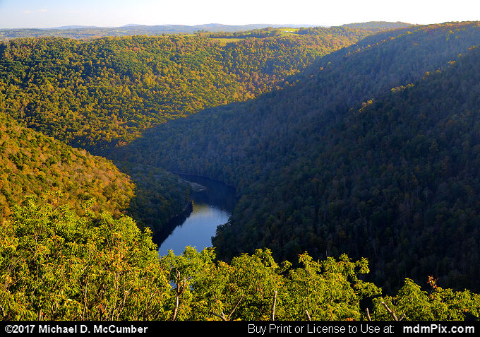 Cheat River (Cheat River Picture 045 - October 14, 2017 from Coopers Rock State Forest, West Virginia)