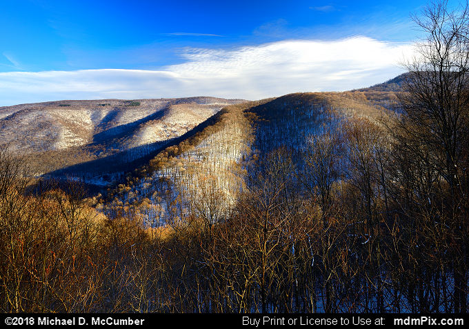 Baughman Rock Overlook (Baughman Rock Overlook Picture 006 - January 19, 2018 from Ohiopyle State Park, Pennsylvania)