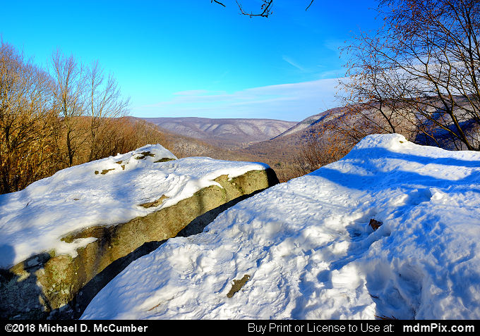 Baughman Rock Overlook (Baughman Rock Overlook Picture 007 - January 19, 2018 from Ohiopyle State Park, Pennsylvania)