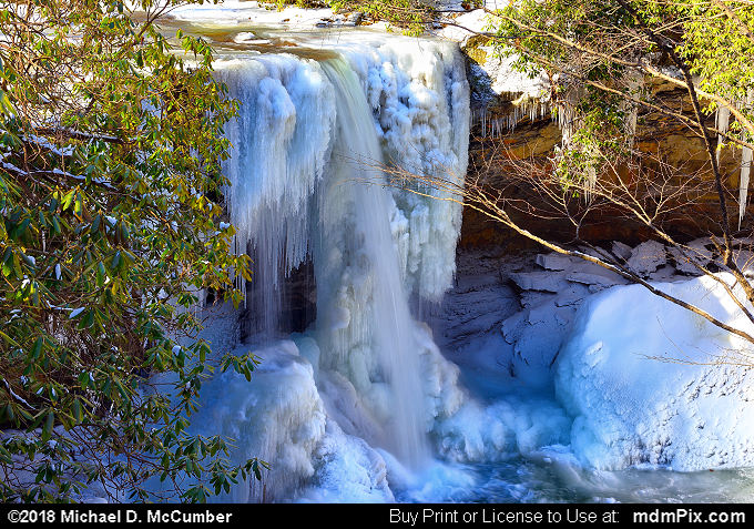Cucumber Falls (Cucumber Falls Picture 011 - January 19, 2018 from Ohiopyle State Park, Pennsylvania)