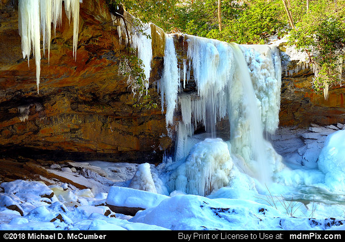 Cucumber Falls (Cucumber Falls Picture 012 - January 19, 2018 from Ohiopyle State Park, Pennsylvania)