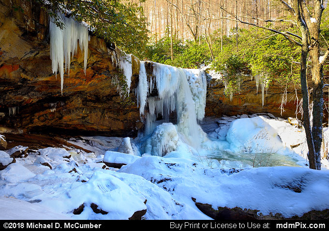 Cucumber Falls (Cucumber Falls Picture 014 - January 19, 2018 from Ohiopyle State Park, Pennsylvania)