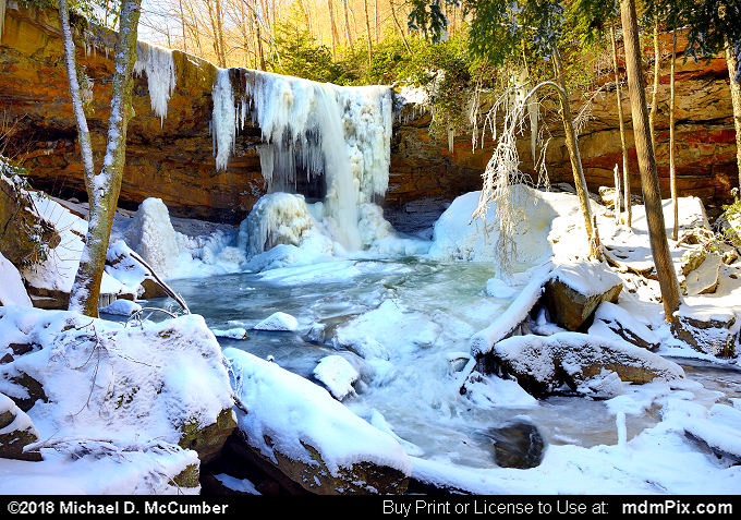 Cucumber Falls (Cucumber Falls Picture 016 - January 19, 2018 from Ohiopyle State Park, Pennsylvania)