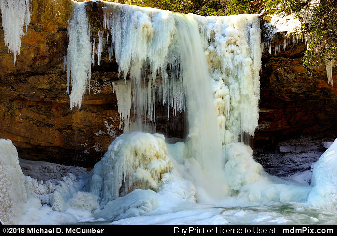Cucumber Falls (Cucumber Falls Picture 018 - January 19, 2018 from Ohiopyle State Park, Pennsylvania)