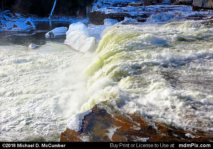 Ohiopyle Falls (Ohiopyle Falls Picture 035 - January 19, 2018 from Ohiopyle State Park, Pennsylvania)