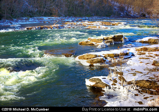 Youghiogheny River (Youghiogheny River Picture 037 - January 19, 2018 from Ohiopyle State Park, Pennsylvania)