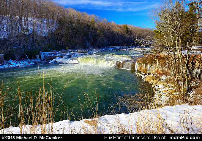 Youghiogheny River (Youghiogheny River Picture 040 - January 19, 2018 from Ohiopyle State Park, Pennsylvania)
