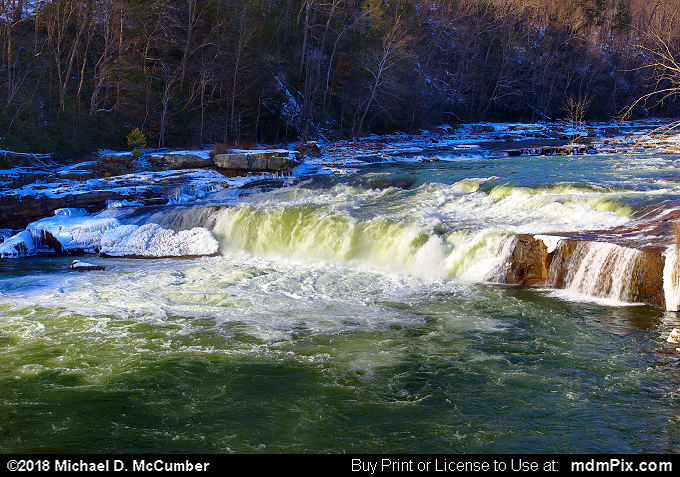 Ohiopyle Falls (Ohiopyle Falls Picture 042 - January 19, 2018 from Ohiopyle State Park, Pennsylvania)