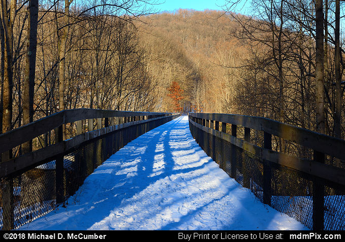 High Ohiopyle Bridge (High Ohiopyle Bridge Picture 050 - January 19, 2018 from Ohiopyle State Park, Pennsylvania)