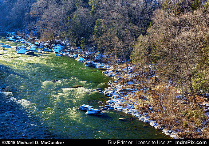 Youghiogheny River (Youghiogheny River Picture 054 - January 19, 2018 from Ohiopyle State Park, Pennsylvania)