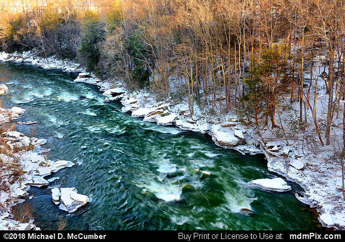 Youghiogheny River (Youghiogheny River Picture 055 - January 19, 2018 from Ohiopyle State Park, Pennsylvania)