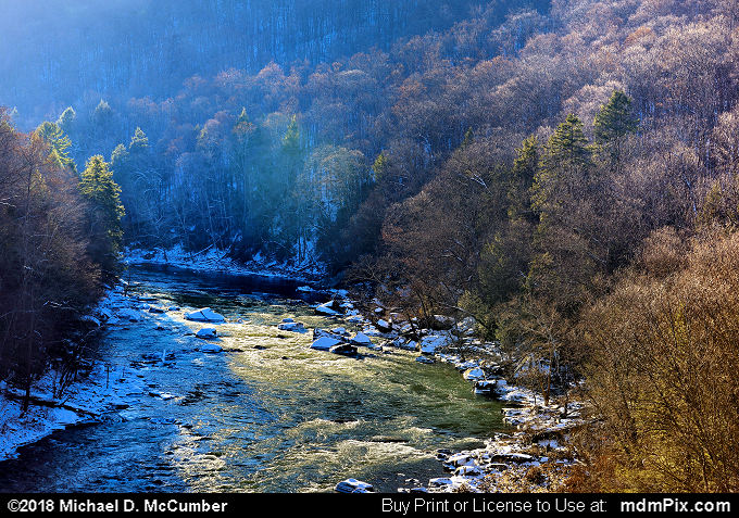 Youghiogheny Gorge (Youghiogheny Gorge Picture 058 - January 19, 2018 from Ohiopyle State Park, Pennsylvania)