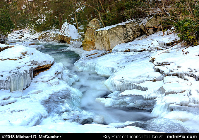 Meadow Run Natural Waterslides (Meadow Run Natural Waterslides Picture 069 - January 19, 2018 from Ohiopyle State Park, Pennsylvania)