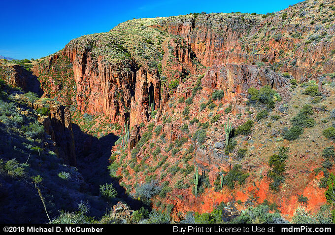 Hog Canyon (Hog Canyon Picture 023 - February 8, 2018 from Sierra Ancha Experimental Forest, Arizona)