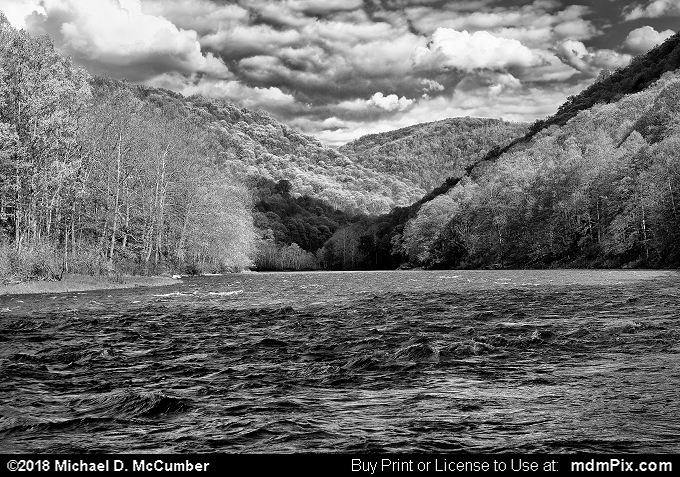 Youghiogheny River (Youghiogheny River Black and White Picture 028 - May 8, 2018 from Dunbar Township, Pennsylvania)