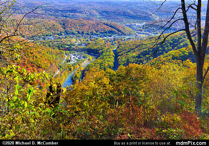 LH Trail's Conemaugh Gorge Overlook (LH Trail's Conemaugh Gorge Overlook Picture 001 - October 28, 2019 from Laurel Ridge State Park, Pennsylvania)